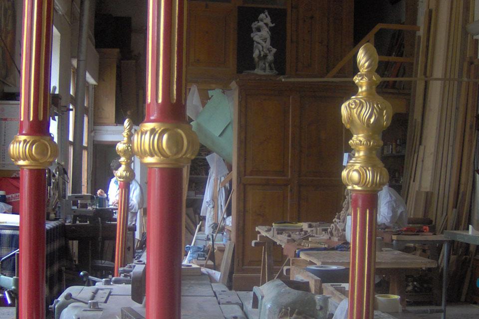 aste processionali dipinte dorate Corso di doratura e tempera alluovo guazzo doratura arti applicate
