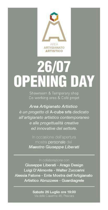 area artigianato artistico pescara Inaugurazione A3 a pescara   26 luglio 2014   con Walter Zuccarini e la casa per le Arti bottega artigianato artistico artigianato