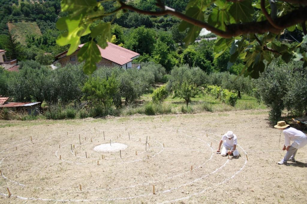Land Art, Walter Zuccarini e Casa per le Arti, Scritture magiche Terra Madre