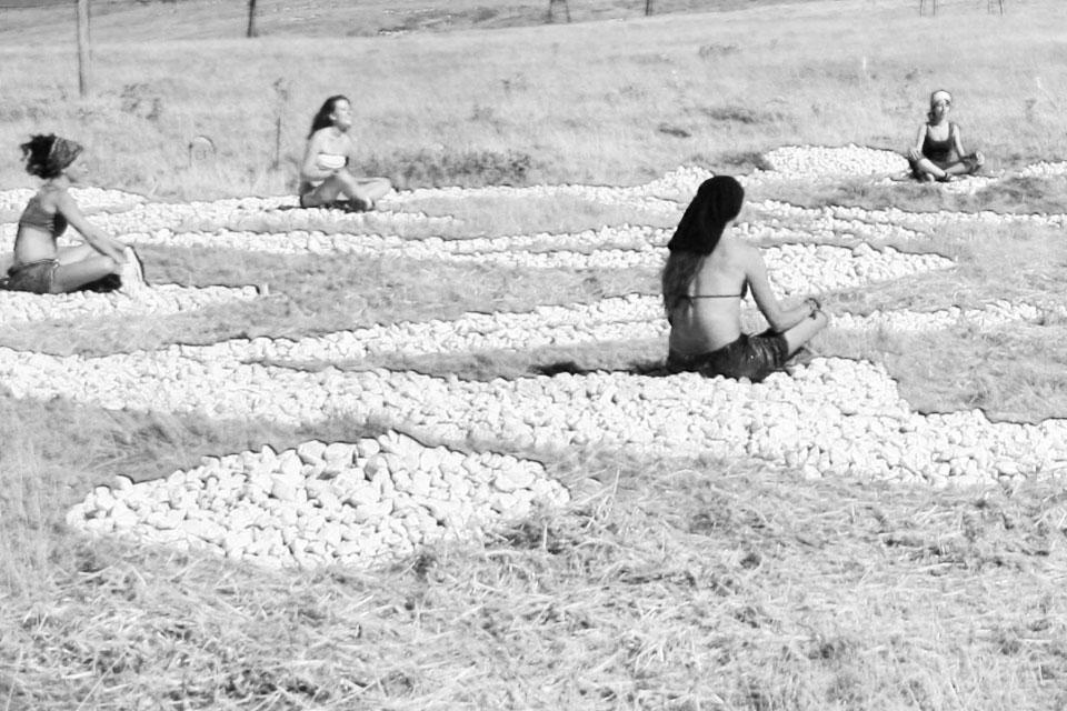 7 Elogio della Land Art terra scritture magiche Rudolf Steiner pietra majella land art anima
