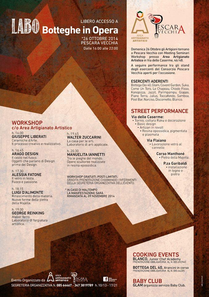 labo zuccarini la casa per le Arti a Labo Botteghe in opera (26 ottobre 2014 a Pescara) workshop di scultura scultura bottega artigianato arti applicate arte