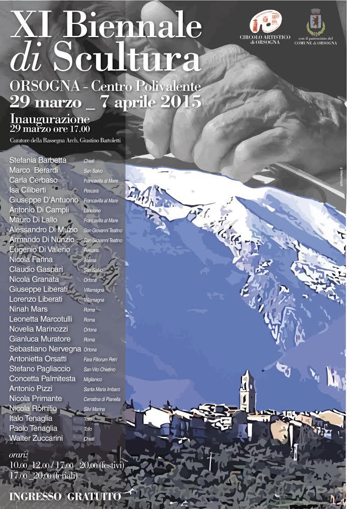 150329 orsogna biennale scultura XI Biennale di Scultura   Orsogna (CH)   29 marzo/7 aprile 2015 scultura biennale scultura