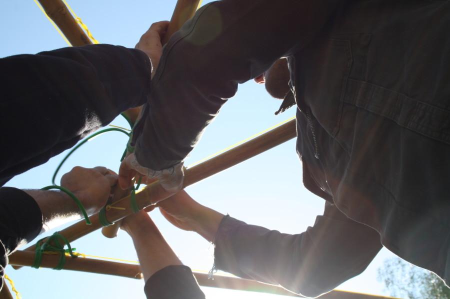 cupola geodetica biagio di carlo casa arti 25 900x598 Strutture reciproche e scienza del design uovo sezione aurea scienza del design Richard Buckminster Fuller geometria sacra forma elissoidica biagio di carlo arte e scienza