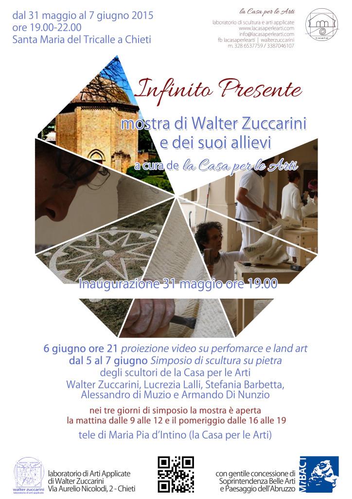mostra infinito presente di walter zuccarini e la casa per le arti scultura
