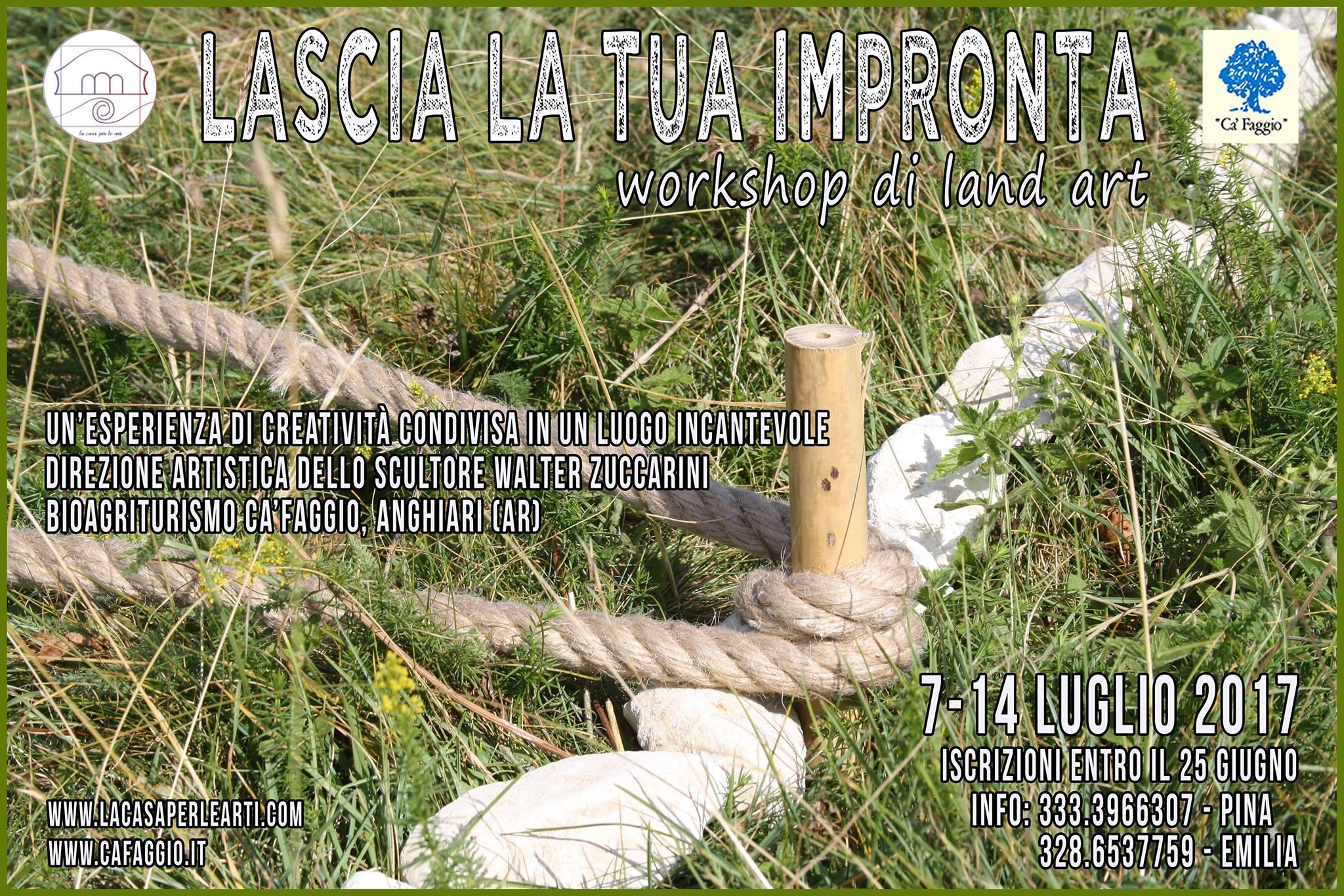 impronta LASCIA LA TUA IMPRONTA   laboratorio di Land Art, 7/14 luglio presso Agriturismo Cà Faggio Anghiari land art laboratorio land art cà faggio