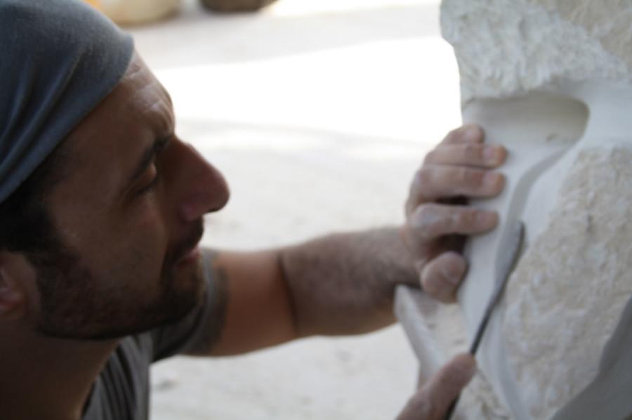 IMG 6770 900x598 SETTIMANA MAGICA   laboratorio di scultura manuale su pietra (10 17 giugno) settimana magica scultura walter zuccarini scultura su pietra corso scultura