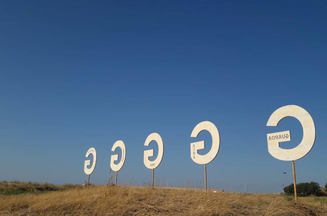 Walter Zuccarini, Emilia Steiner, La forma delle parole, Art in the dunes 2019, Vasto, Spiaggia di Punta Aderci