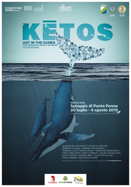 vasto art in the dunes 2019 walter zuccarini la casa per le arti Kētos, ART IN THE DUNES A VASTO VIII edizione | 20 luglio   4 agosto 2019 walter zuccarini Punta Penna National Center for Atmospheric Research mostro marino Kētos Emilia Steiner balena ART IN THE DUNES