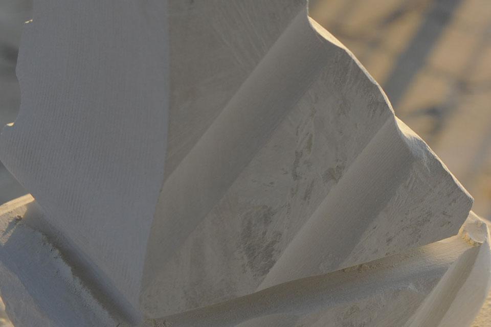 4 Corso di scultura su pietra   Mattinata (FG) 2014   Riflessioni scultura pietra mare corso di scultura anima