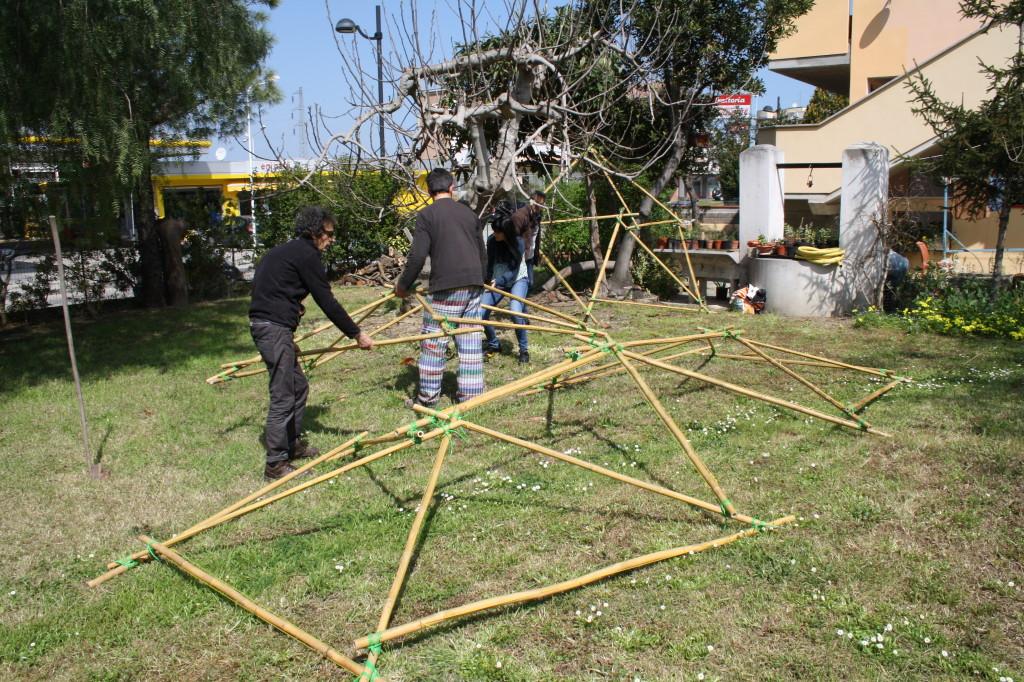 cupola geodetica al B&B La Casa Zen con Biagio Di Carlo e la Casa per le Arti