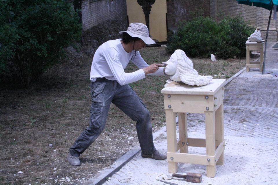 simposio scultura infinito presente mostra zuccarini1 Immagini e ricordi della mostra Infinito Presente (31 maggio   7 giugno 2015)   Chieti workshop di scultura walter zuccarini teatro simurgh stefania barbetta scultura ottagono mostra artigianato artistico artigianato