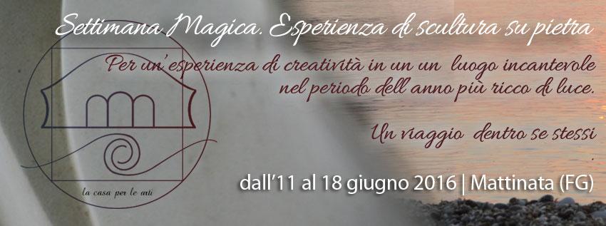 Settimana magica - Esperienza di scultura condotta da walter zuccarini a Mattinata